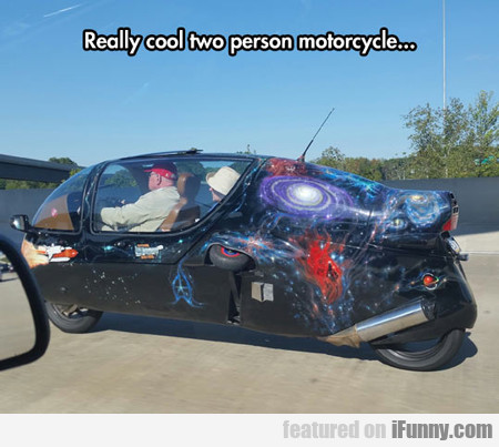 Really Cool Two Person Motorcycle...
