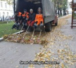Street Cleaning In Moscow...