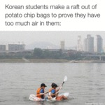 Korean Students Make A Raft...