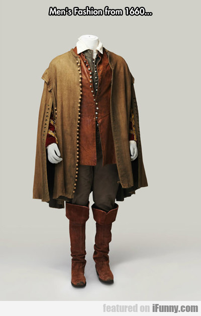 Men's Fashion From 1660...