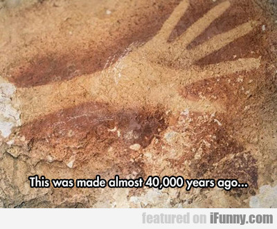 This Was Made Almost 40,000 Years Ago...