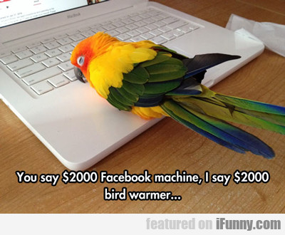 You Say $2000 Facebook Machine...