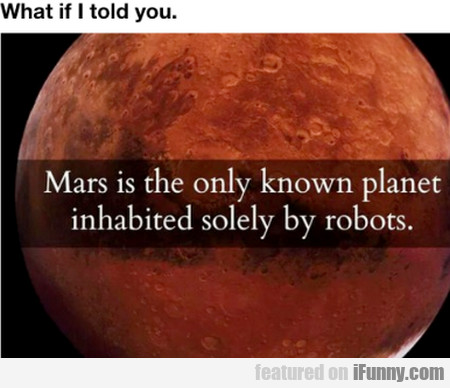 Mars Is The Only Known Planet
