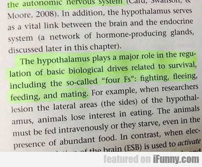 The Hypothalamus Plays A Major Role...
