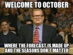 Welcome To October...