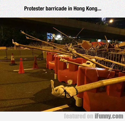 Protester Barricade In Hong Kong...