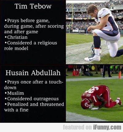 Tim Tebow, Prays Before Game...