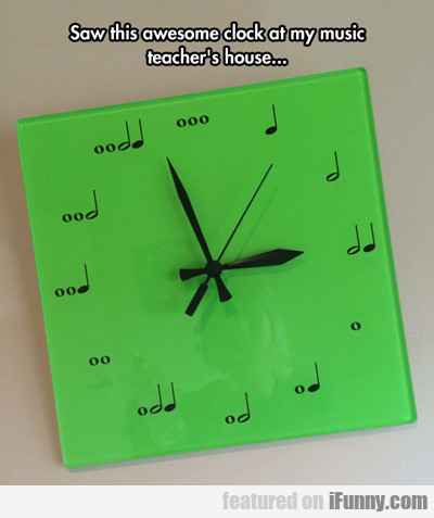 saw this awesome clock...