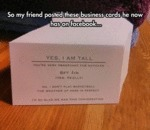 So My Friend Posted These Business Cards...