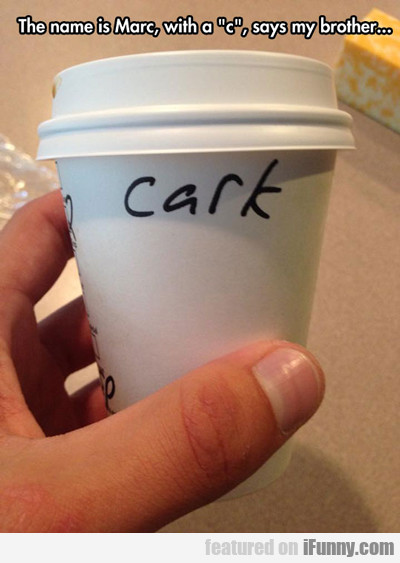 the name is marc with a c...