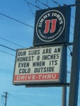 Our Subs Are An Honest 8 Inches...