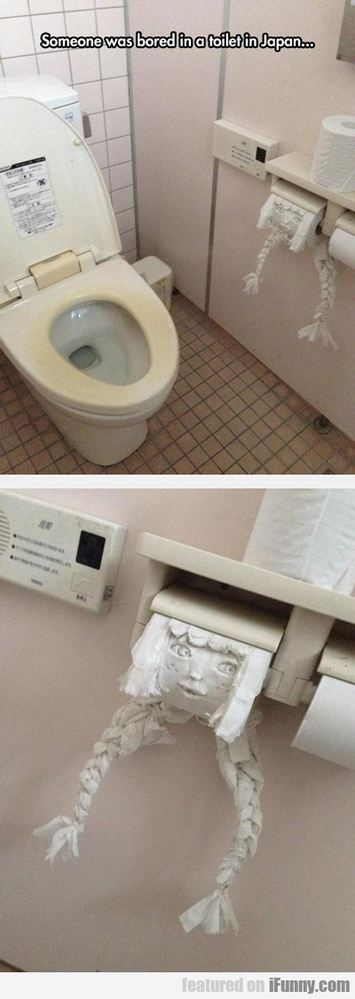 Someone Was Bored In A Toilet In Japan...