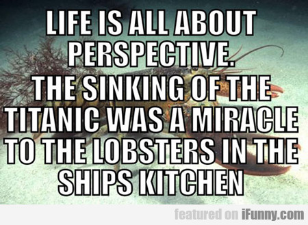 Life Is All About Perspective...