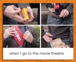 When I Go To The Movie Theatre...
