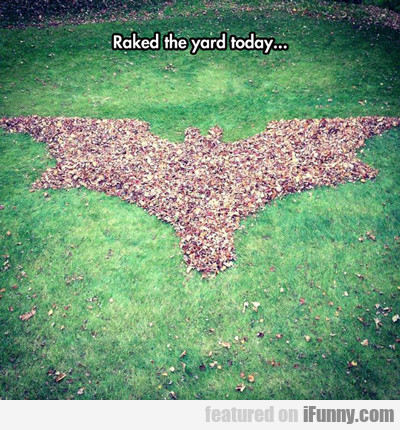 Raked The Yard Today...