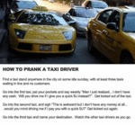 How To Prank A Taxi Driver...