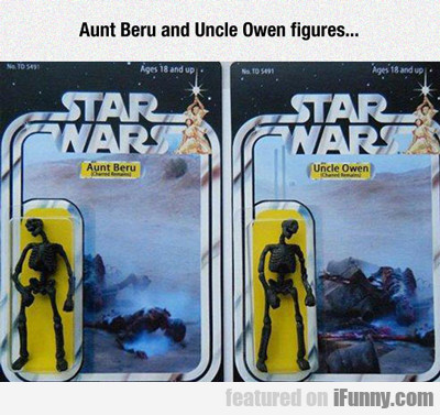 Aunt Beru And Uncle Owen Figures...
