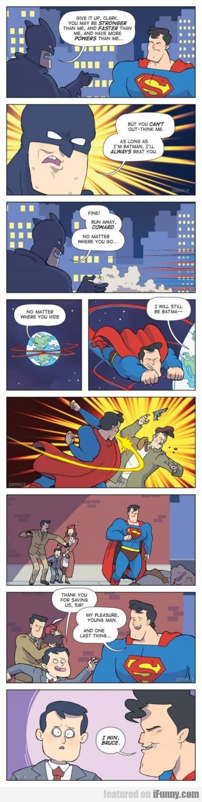 give it up clark, you may be