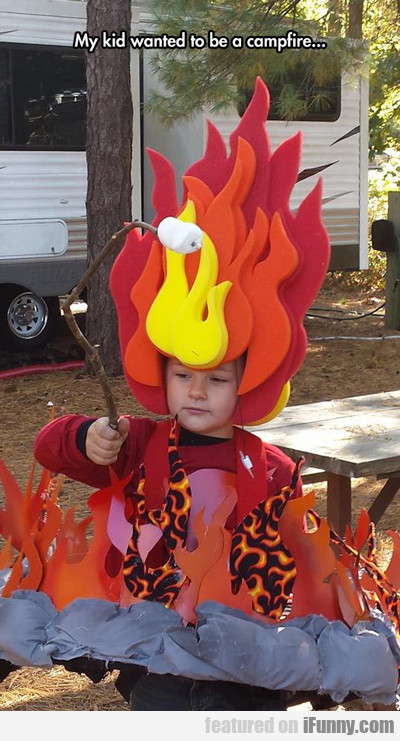 My Kid Wanted To Be A Campfire...
