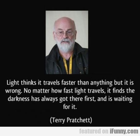 Light Thinks It Travels Faster