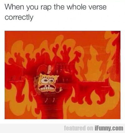 When You Rap The Whole Verse Correctly...