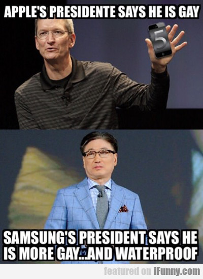 Apple's President Says He Is Gay...