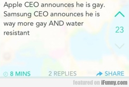 Apple Ceo Announces He Is Gay