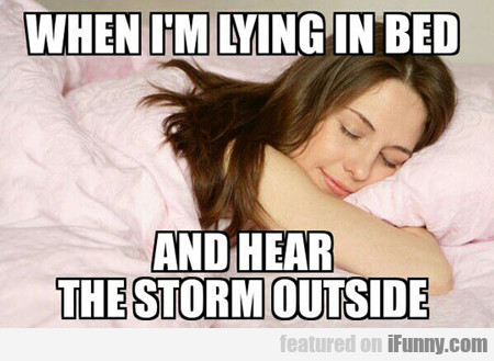 When I'm Lying In Bed...