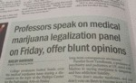 Professors Speak On Medical Marijuana...