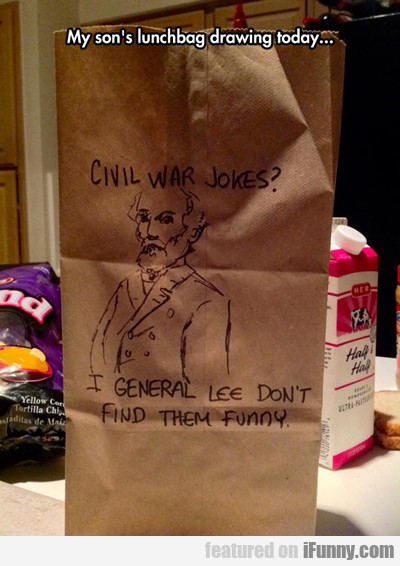 My Son's Lunchbag Drawing Today...