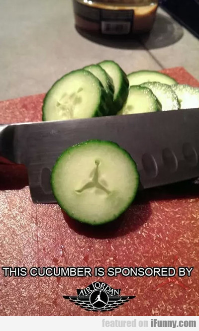 This Cucumber Is Sponsored By Air Jordan...