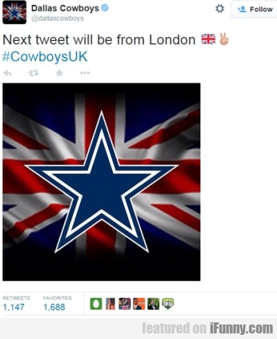 Next Tweer Will Be From London