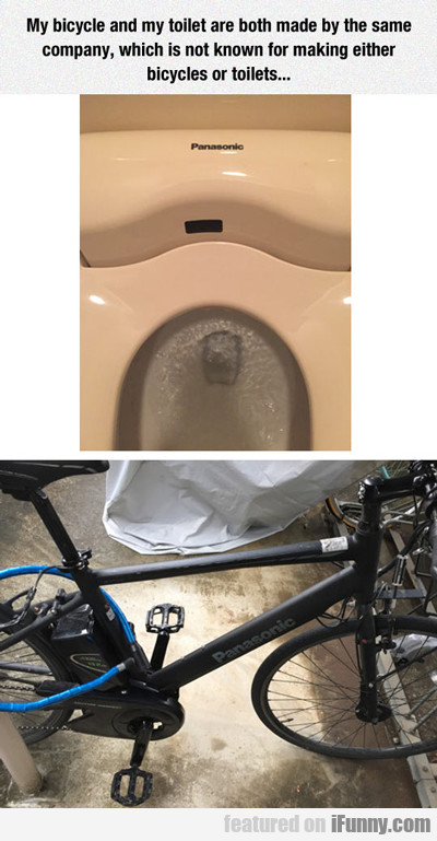 My Bicycle And Toilet...