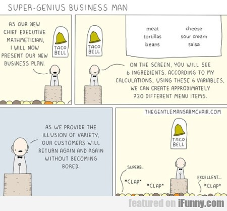 Super Genius Business Man