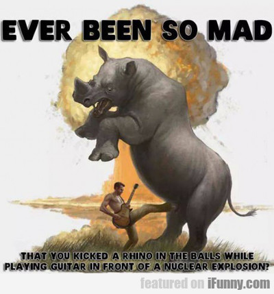 Ever Been So Mad That You Kicked A Rhino...