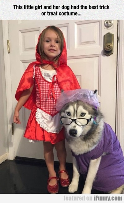 This Little Girl And Her Dog