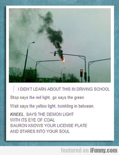 i didn't learn about this in driving school...
