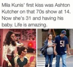 Mila Kunis' First Kiss...