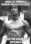 Bruce Lee Throws A Grenade...