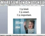 My Resume In A Nutshell...