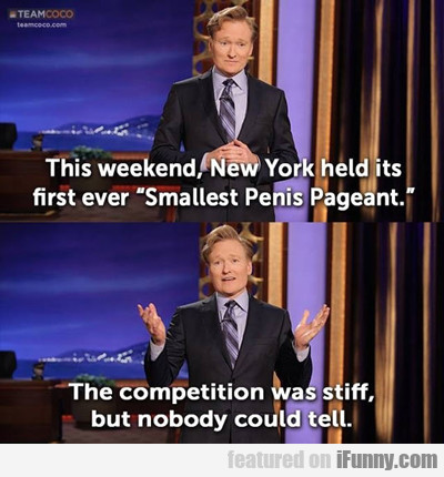 this weekend, new york held it's first ever...