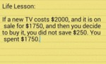 Life Lesson: If A New Tv Costs...