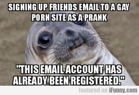 Signing Up Friend's Email...