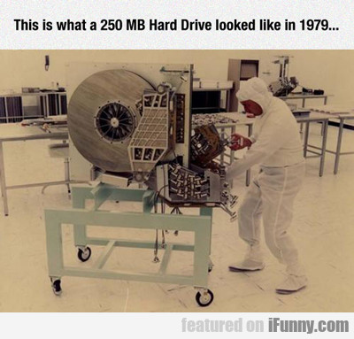 this is what a 250 mb hard drive looked like in...
