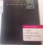 I Like My Men Like I Like My 2015 Diaries...