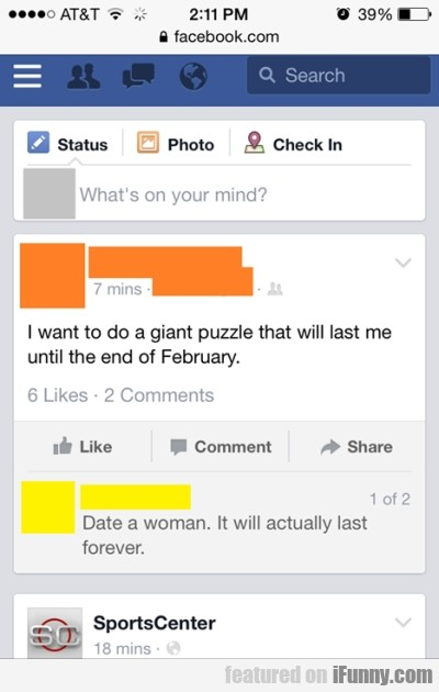 I Want To Do A Giant Puzzle