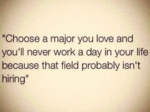 Choose A Major You Lover