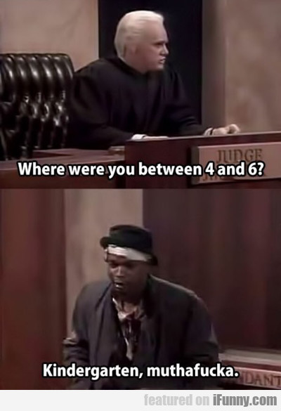 where were you between 4 and 6...
