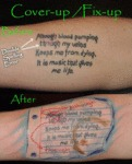 Cover-up/fix-up