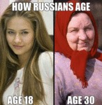 How Russians Age...